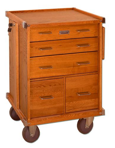 Gerstner International 5-Drawer Roller Cabinet with Full Extension Drawer Slides and Collapsible Side Work Shelf - GI-R20