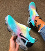 Rainbow Vapor Max SE Flyknit LACELESS ( GS AND MEN SIZES )
