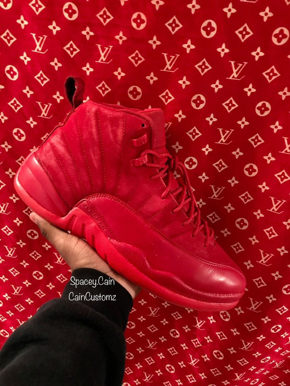 the best attitude 68e53 24263 Red Suede 12s