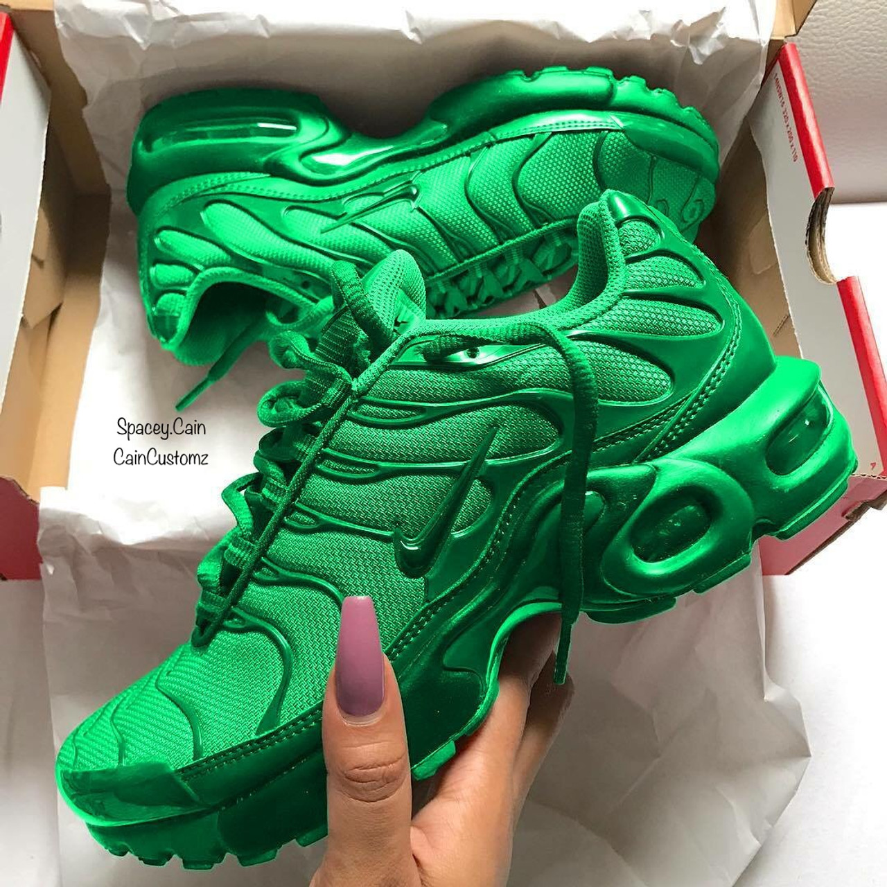 on sale e84a1 1ea3d Green Apple Air Max Plus (GS & Men Sizes)