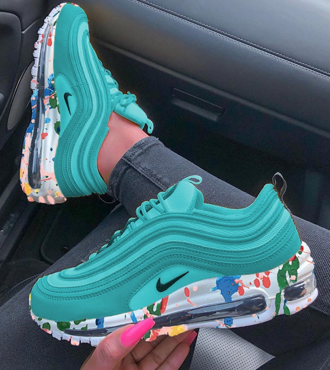 cheaper 23934 9330e Ocean Graffiti Air Max 97s ( GS AND MEN SIZE )