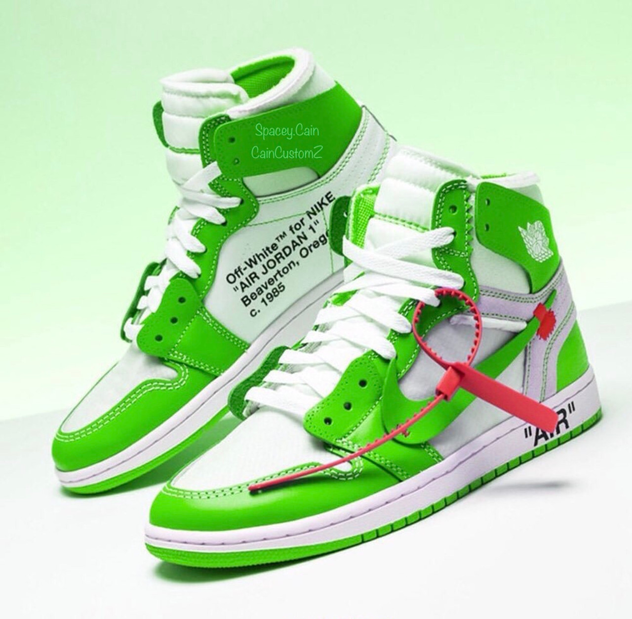 finest selection 8f7f8 7e8d8 Slime Off White Air Jordan 1s ( Only 5 Pair Can Be Made )