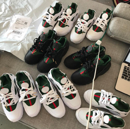 Black Gucci Huaraches GS AND MEN SIZES-