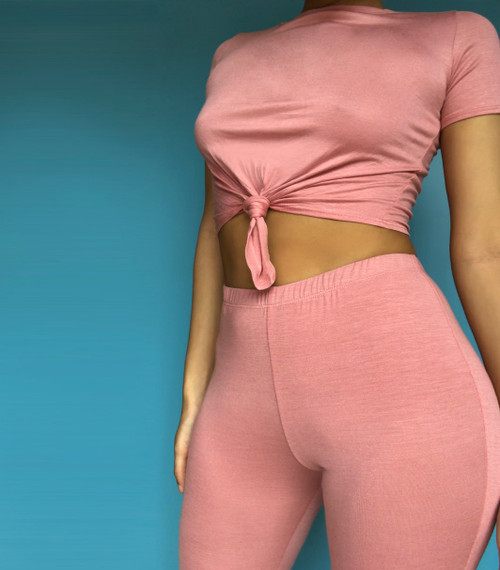 LYDIA CROP TOP AND FLARE PANTS SET (2-COLOR OPTIONS)