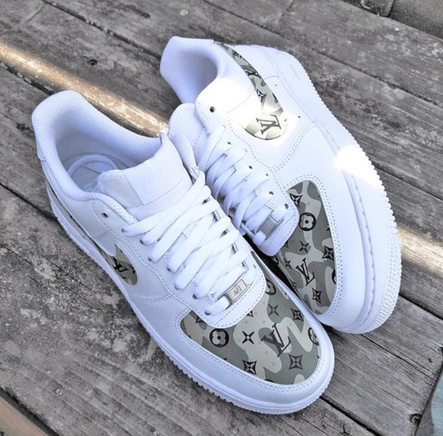 White LV  AirForces GS And Men