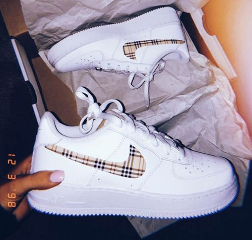 Plaid Airforces  (GS & Men Sizes)