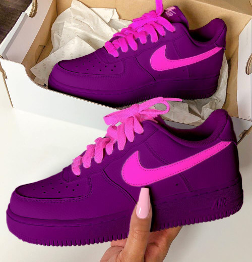 Purple Millenial Airforces ( GS And Men Sizes )