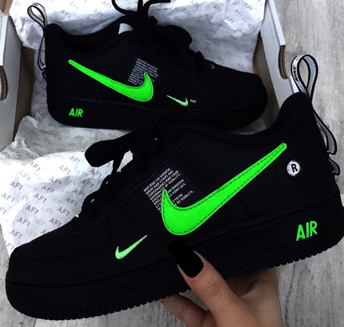 Black Slime Utility AirForces ( GS AND MEN )