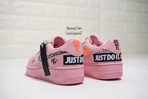 Pink Just Do It Airforces