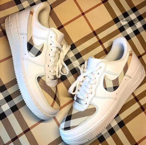 Plaid Airforces ( Leather ) GS AND MEN SIZES