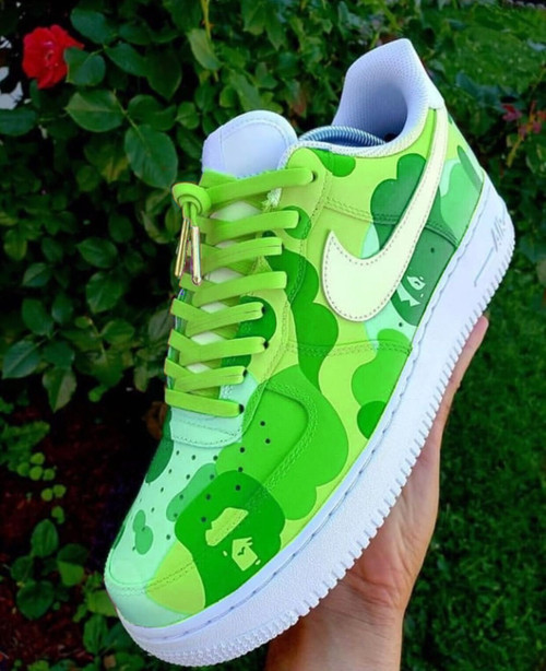 Green Bape Airforces