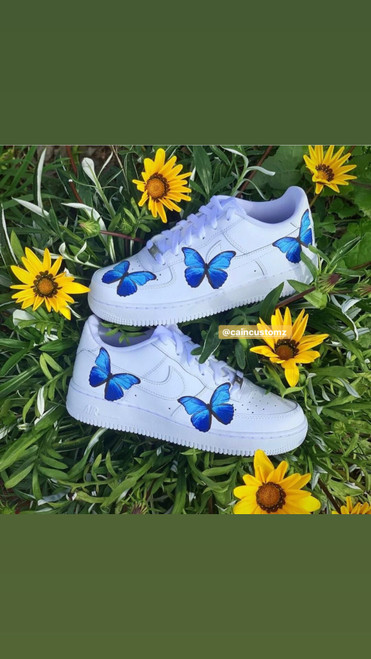 Blue Butterfly Airforces ( GS AND MEN SIZES )