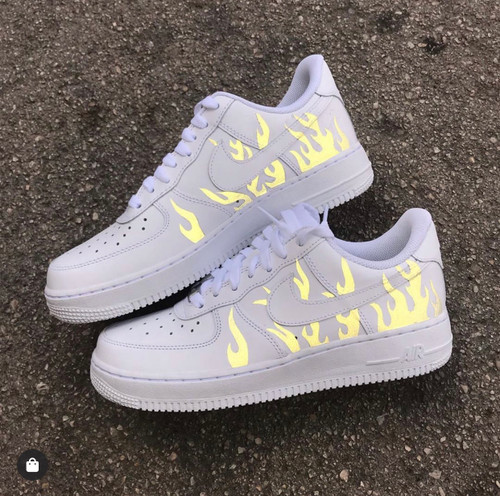 REFLECTIVE FLAME AIRFORCES ( GS AND MEN SIZES )
