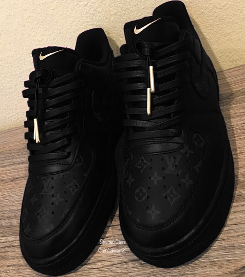 Matte Black LV Airforces ( GS AND MEN )