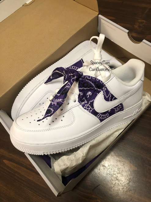 Purple Bandana Airforces ( GS AND MEN SIZES )
