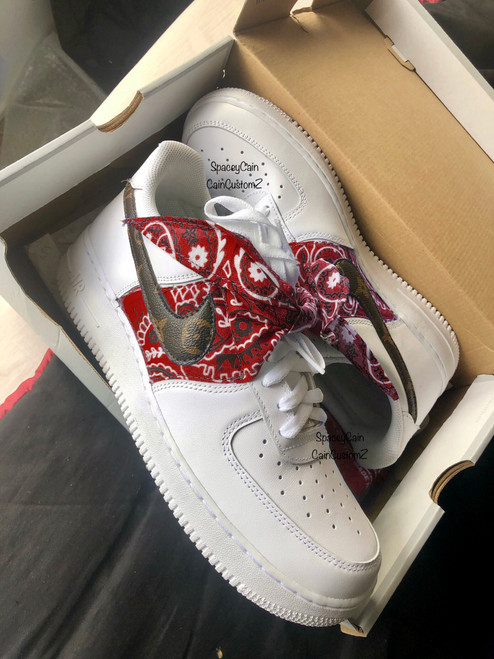 Red Bandana Designer Airforces