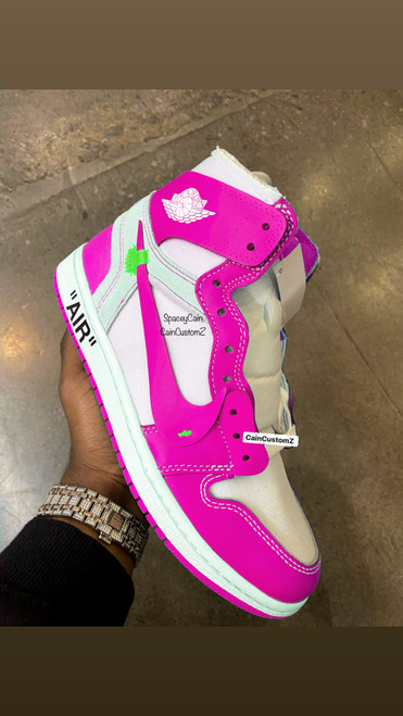 Breast Cancer Off White Air Jordan Retro 1s