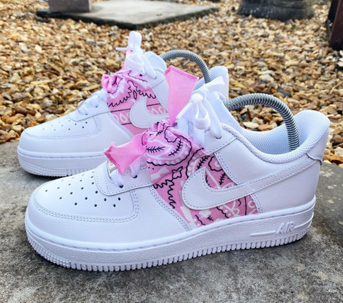 Pink Bandana Airforces GS And Men Sizes
