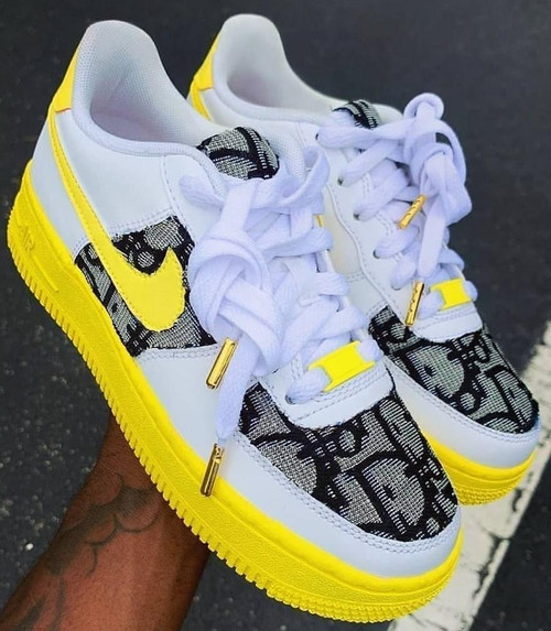 Lemon Dior Airforces ( GS AND MEN SIZES )