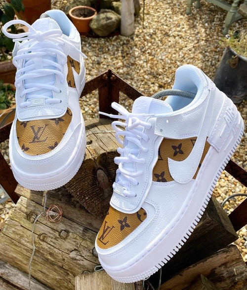 Cognac LV Airforces LV8 ( GS AND MEN SIZES )