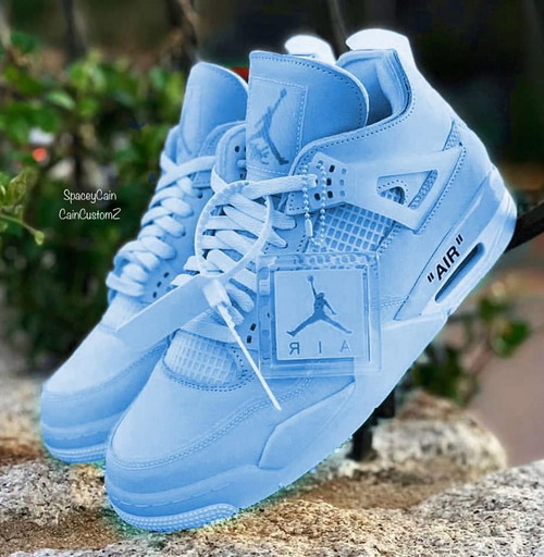Ocean Off White 4s ( WOMEN SIZING )