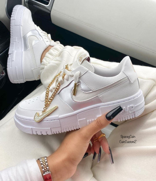Gold Pixel Airforces ( GS AND MEN SIZES )