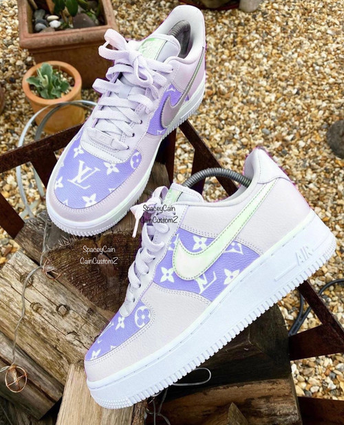 Purple Haze Limited LV Airforces ( GS AND MEN SIZES )