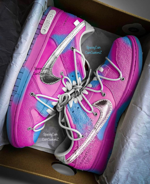 Cotton Candy Off White Dunk Low ( GS & Men Sizes )