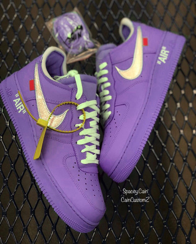 Purple Lobster MCA Off White Airforces