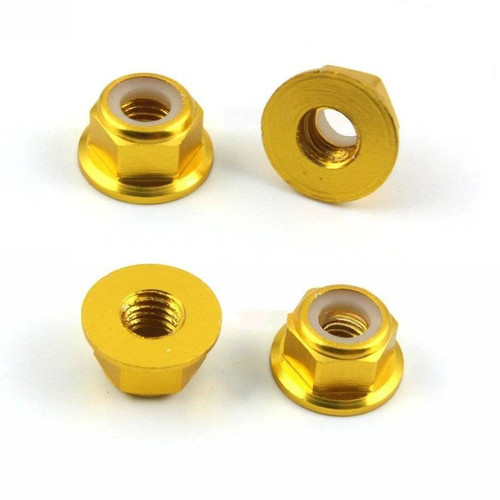 Ultra Light Anodized M5 Lock Nuts Gold (set of 4)