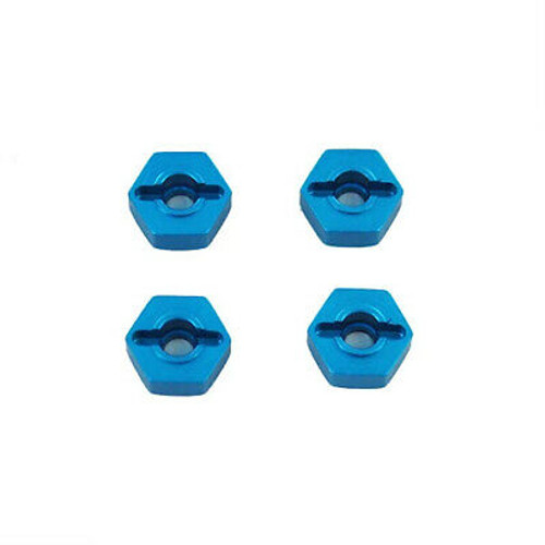REDCAT Aluminum Wheel Hex (4pcs)(12mm)(Blue) Same as 122042 (02134) (02134)