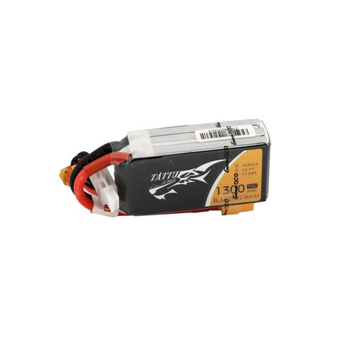 Tattu 1300mAh 11.1V 75C 3S1P Lipo Battery Pack Racing with XT60 plug