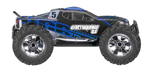 Redcat Earthquake 3.5 1/8 Scale Nitro RC Monster Truck Blue and Black
