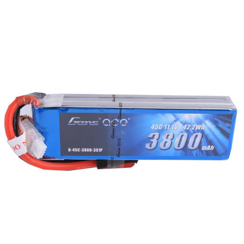 Gens ace 3800mAh 11.1V 45C 3S1P Lipo Battery Pack with Deans plug