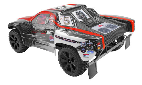 Redcat Blackout SC 1/10 Scale Brushless Electric RC Offroad Short Course Truck Red