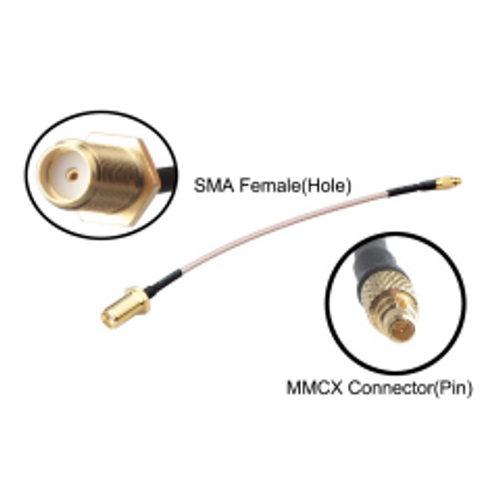 RJX - MMCX to SMA Female Low Loss FPV Antenna Extension Cable Antenna Adapter Length: 120mm