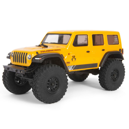 Axial 1/24 SCX24 2019 Jeep Wrangler JLU CRC 4WD Rock Crawler Brushed RTR Yellow
