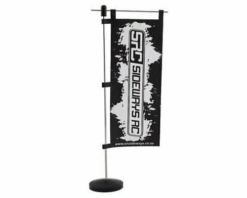 Sideways RC Scale Drift Pit Flag (Black)