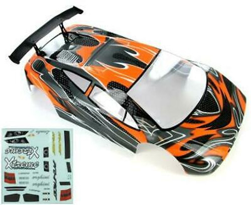 RedCat 1/10 200mm Onroad Car Body Orange/Black