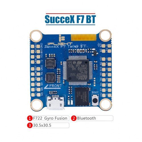 iFlight SucceX F7 TwinG Flight Controller with BlueTooth/LED (Dual ICM20689) FC06835