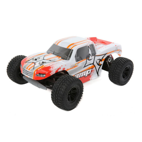 AMP MT 1:10 2WD Monster Truck:White/Orange RTR