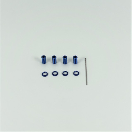 1RC Racing Threaded Alum Shock Body Set, Blue, 18th Scale (4) 1RC5007