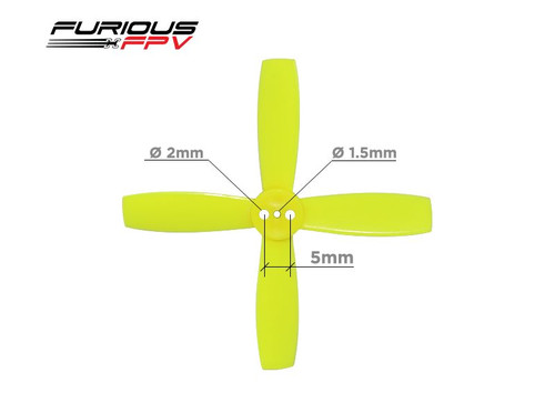 Furious FPV Propellers High Performance-Neon Yellow-2035-4-Blade