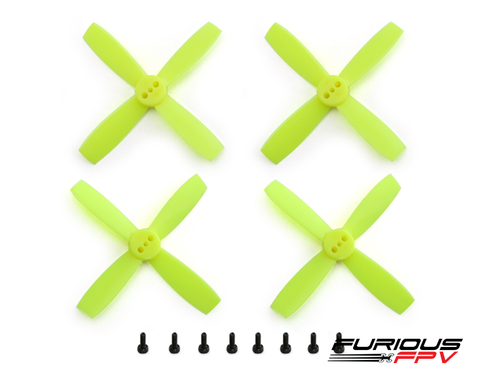 Furious FPV Propellers High Performance-Neon Yellow 2435 4-Blade