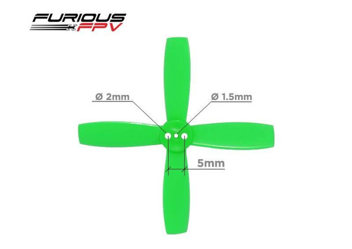 Furious FPV Propellers High Performance-Neon Green-1935-4-Blade