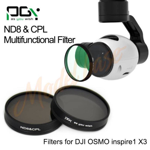 PGYTECH DJI INSPIRE1/OSMO X3 Filterlens(ND8&CPL 2in1 Multi-function)