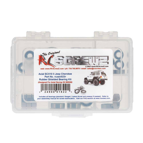 RCScrewz Axial SCX10 II Jeep Cherokee Rubber Shielded Bearing (axi023r)