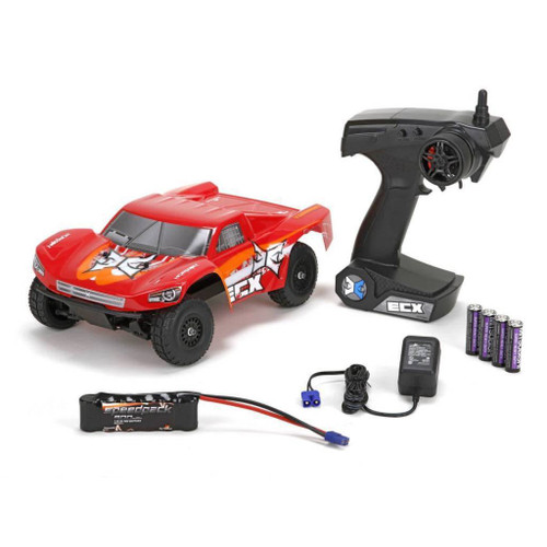 ECX Torment 1:24 4wd Short Course Truck: Black/Red RTR