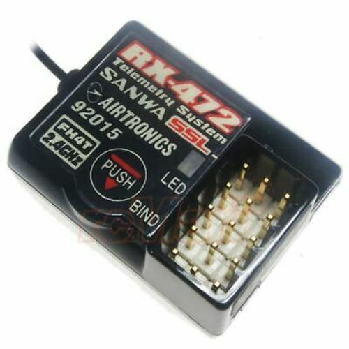 Sanwa 4channel RX472 Telemetry Receiver