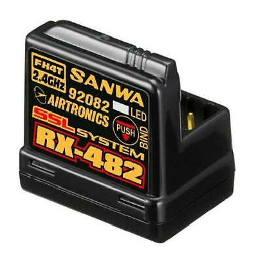 Sanwa 4 ?channel RX?482 Telemetry Receiver w/ built?-in Antenna